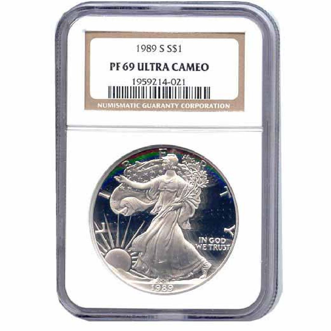 Certified Proof Silver Eagle PF69 1989