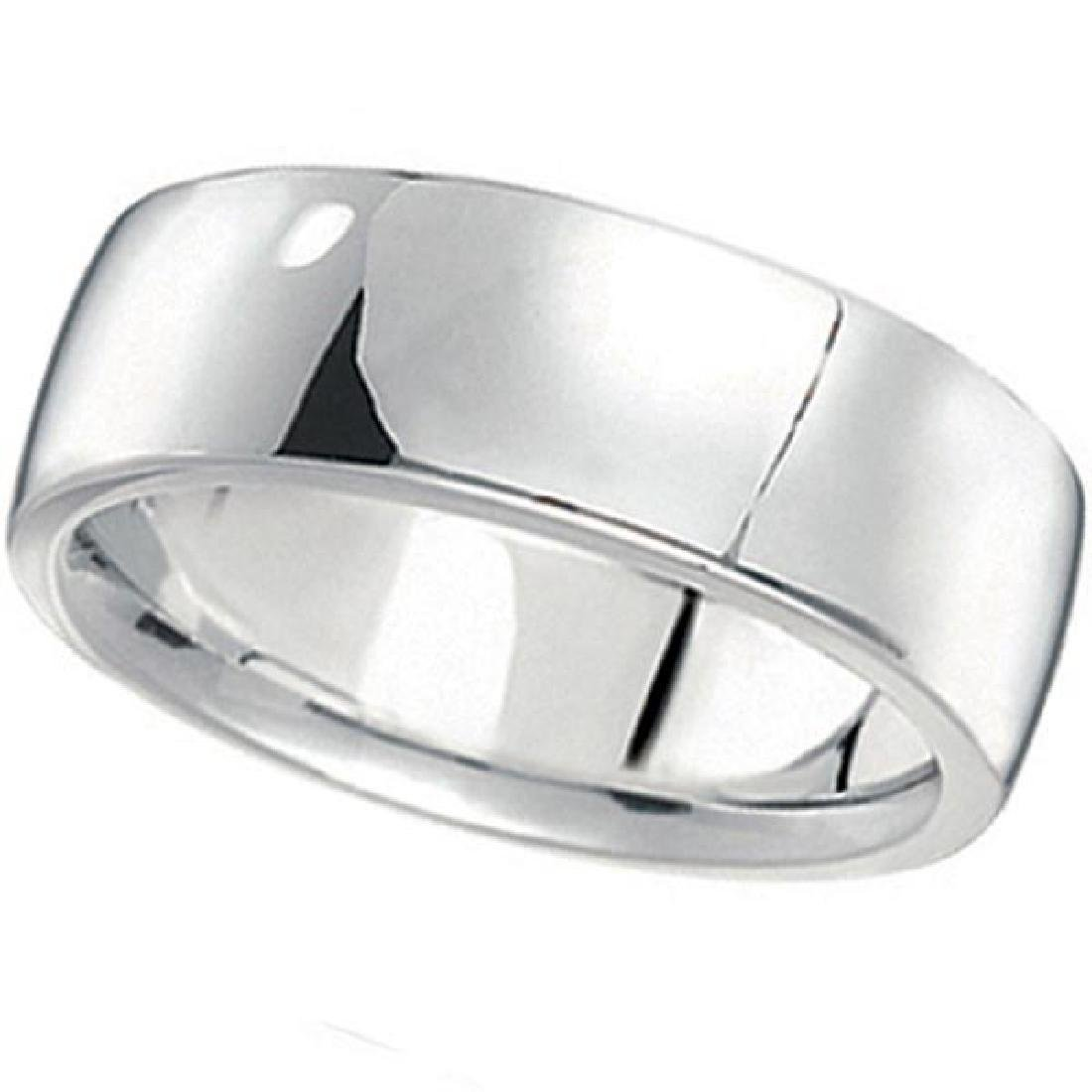 Mens Wedding Band Low Dome Comfort-Fit in Palladium (7