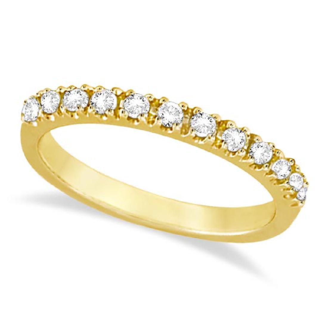 Diamond Stackable Ring Anniversary Band 14k Yellow Gold