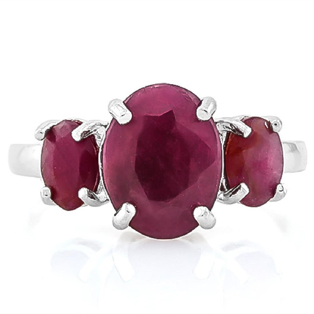 5 3/4 CARAT RUBY 925 STERLING SILVER RING