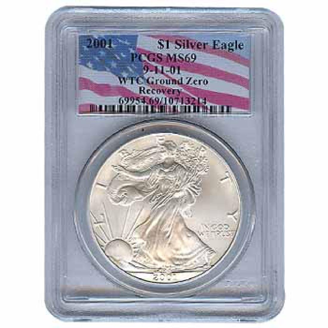 Certified Silver Eagle WTC Ground Zero Recovery 2001 MS