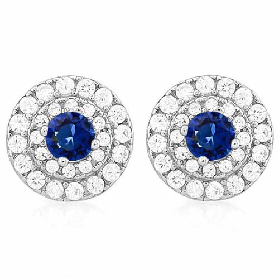 3/4 CARAT CREATED BLUE SAPPHIRE & 1/2 CARAT (56 PCS) FL