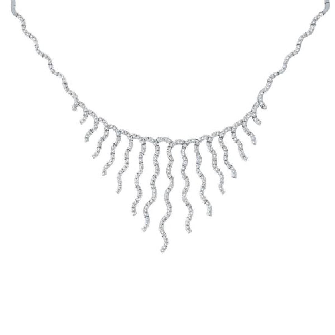 Diamond Bridal Choker Necklace 14k White Gold (3.04 ctw