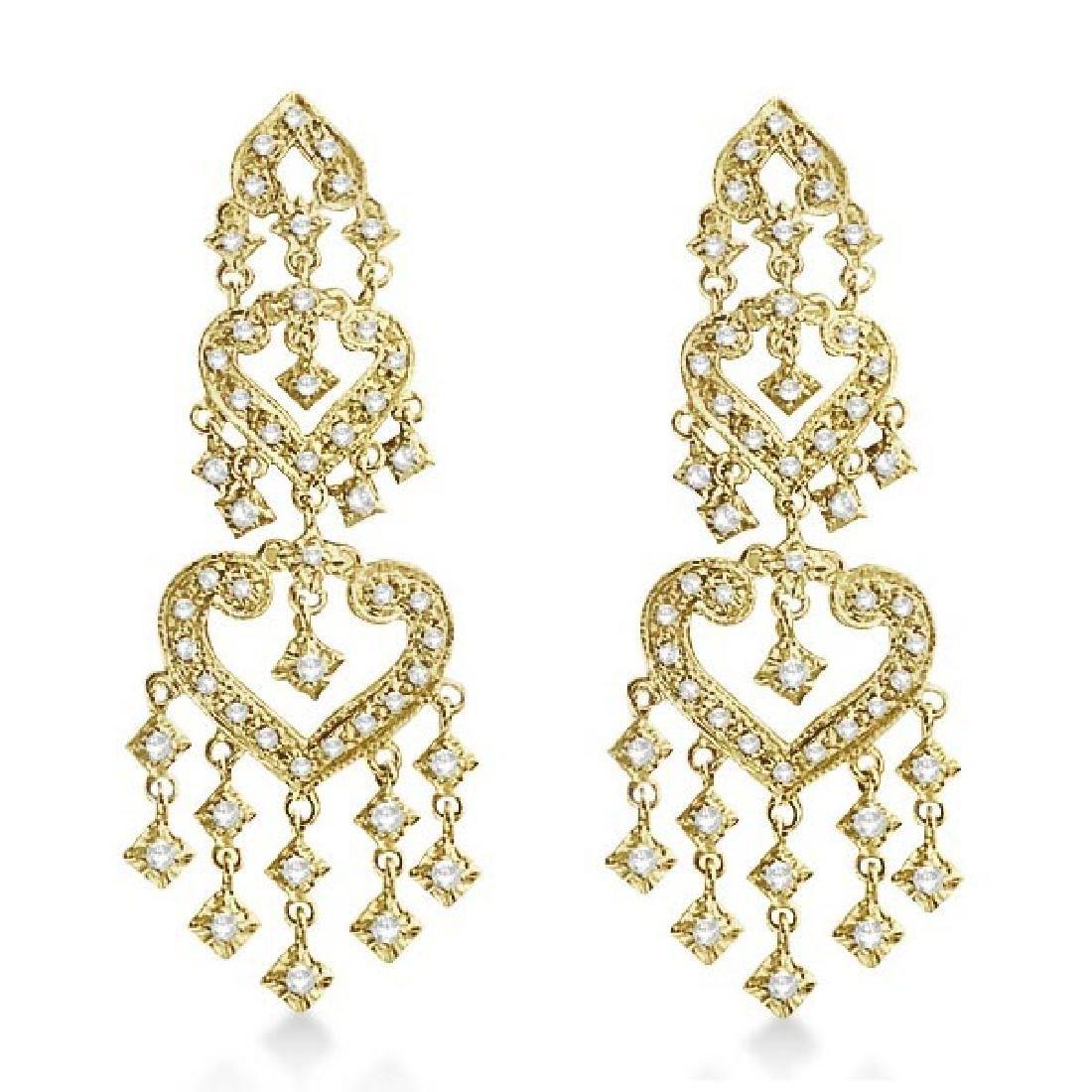 Diamond Chandelier Earrings in 14k Yellow Gold (1.01ct)