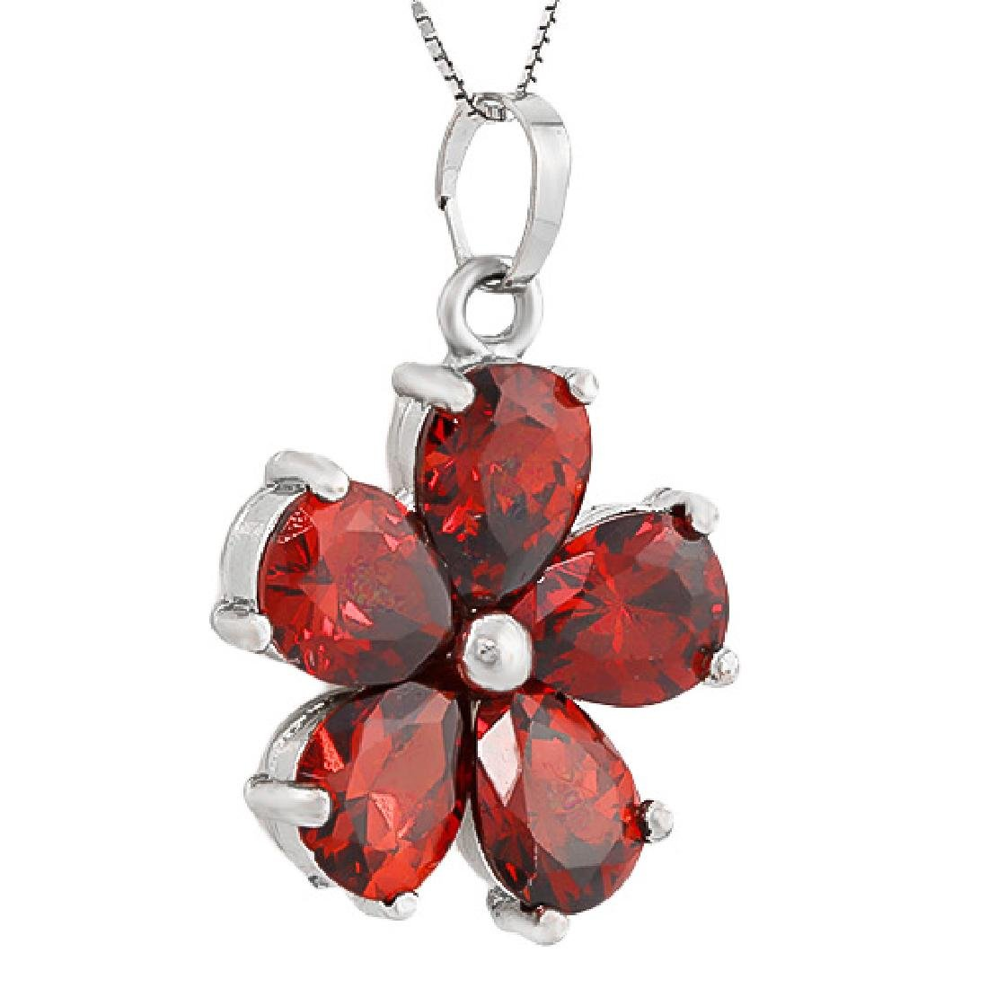 CREATED RUBY 18K GOLD PLATED GERMAN SILVER PENDANT