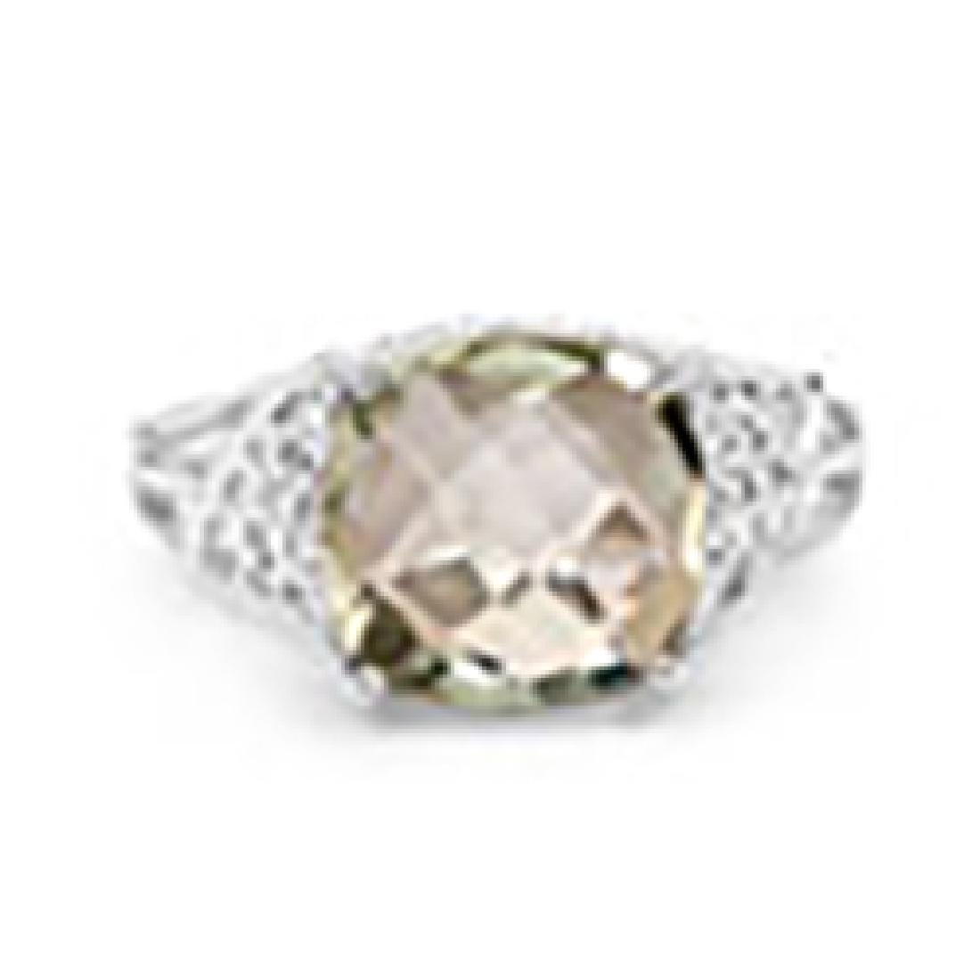 3.37 Carat Genuine Green Amethyst and White Topaz .925