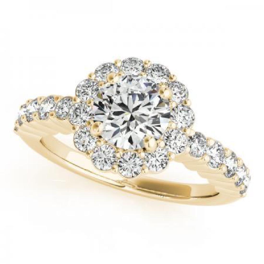 CERTIFIED 18K YELLOW GOLD 1.21 CT G-H/VS-SI1 DIAMOND HA