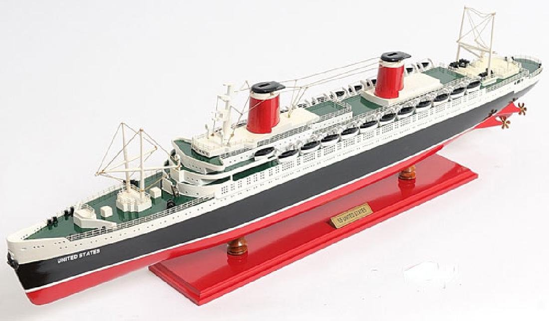 HAND MADE WOODEN SS United States W/COA