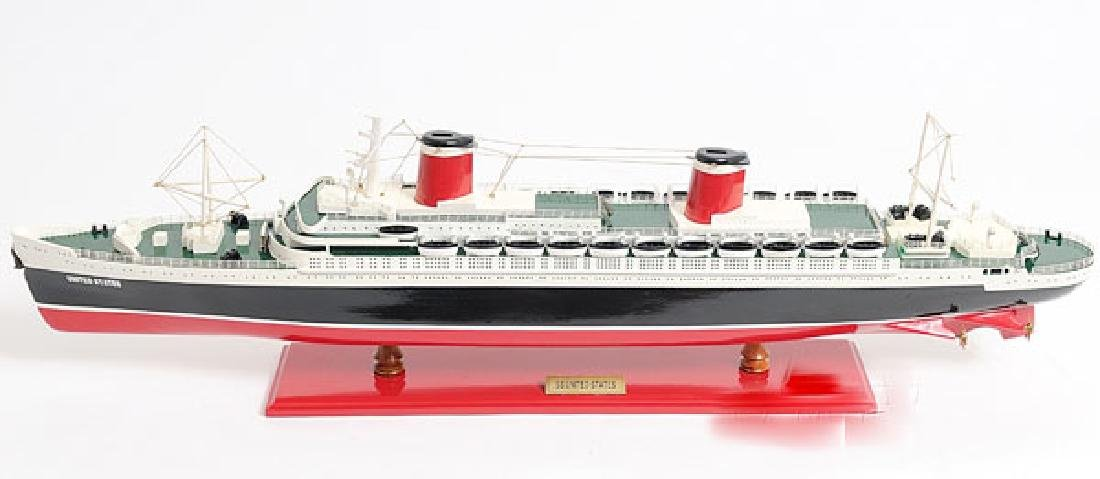 HAND MADE WOODEN SS United States W/COA - 2