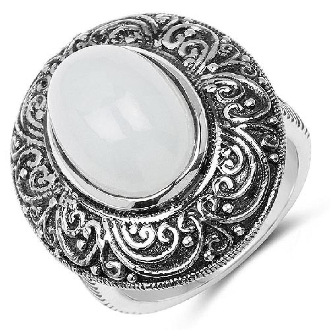 6.33 Carat Genuine Aquamarine .925 Sterling Silver Ring