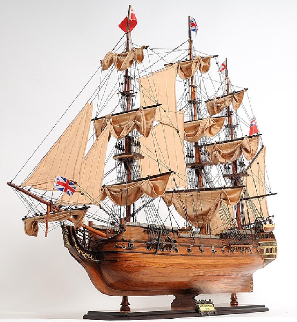 HAND MADE WOODEN HMS Surprise W/COA - 3