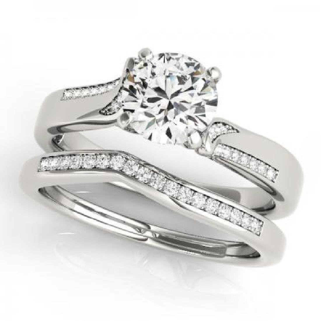 CERTIFIED 18KT WHITE GOLD 1.14 CT G-H/VS-SI1 DIAMOND BR