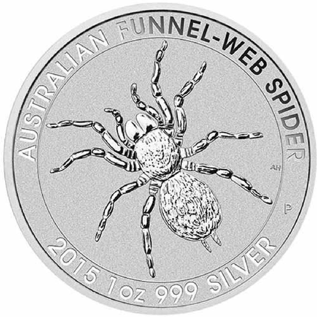 2015 1 oz Australian Silver Funnel Web Spider BU