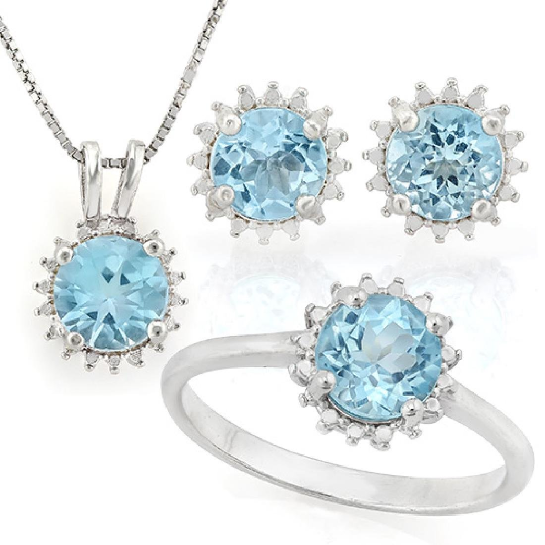 4 3/4 CARAT BABY SWISS BLUE TOPAZS 925 STERLING SILVER