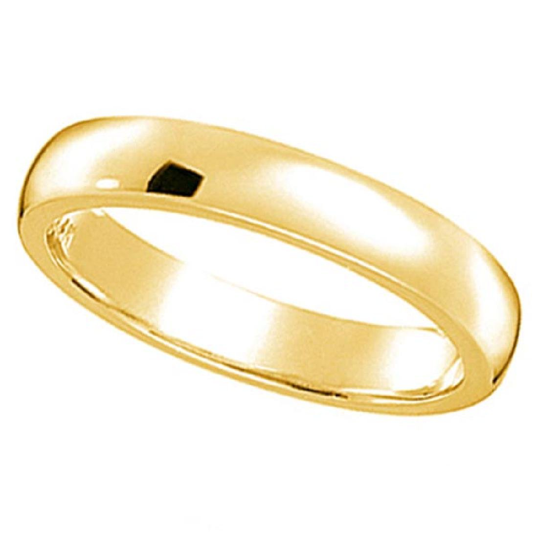 Dome Comfort Fit Wedding Ring Band 14k Yellow Gold (3mm
