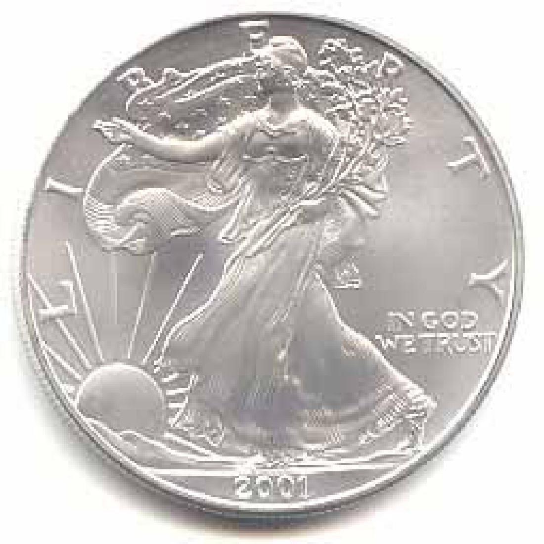 2001 1 oz Silver American Eagle BU