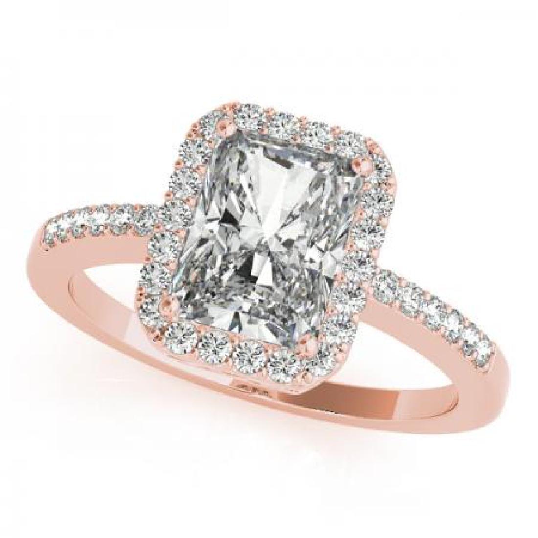 CERTIFIED 18KT ROSE GOLD 1.00 CT G-H/VS-SI1 DIAMOND HAL