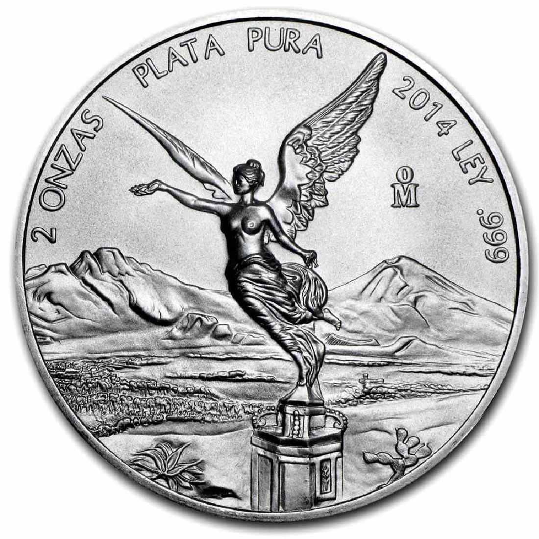 Mexican Silver Libertad 2 Ounce 2014