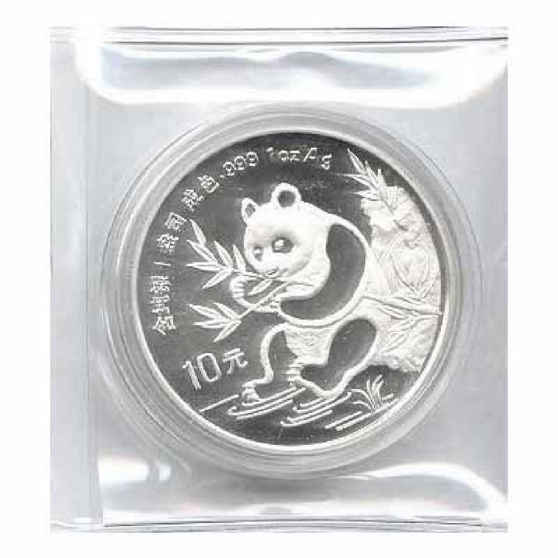 1991 Chinese Silver Panda 1 oz - Small Date