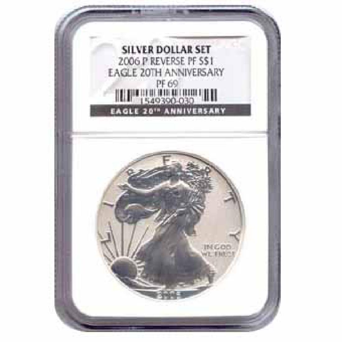 Certified 2006-P 20th Anniversary American Eagle Silver