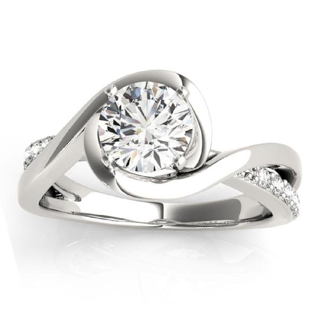 Diamond Bypass Engagement Ring in 14k White Gold 1.38ct