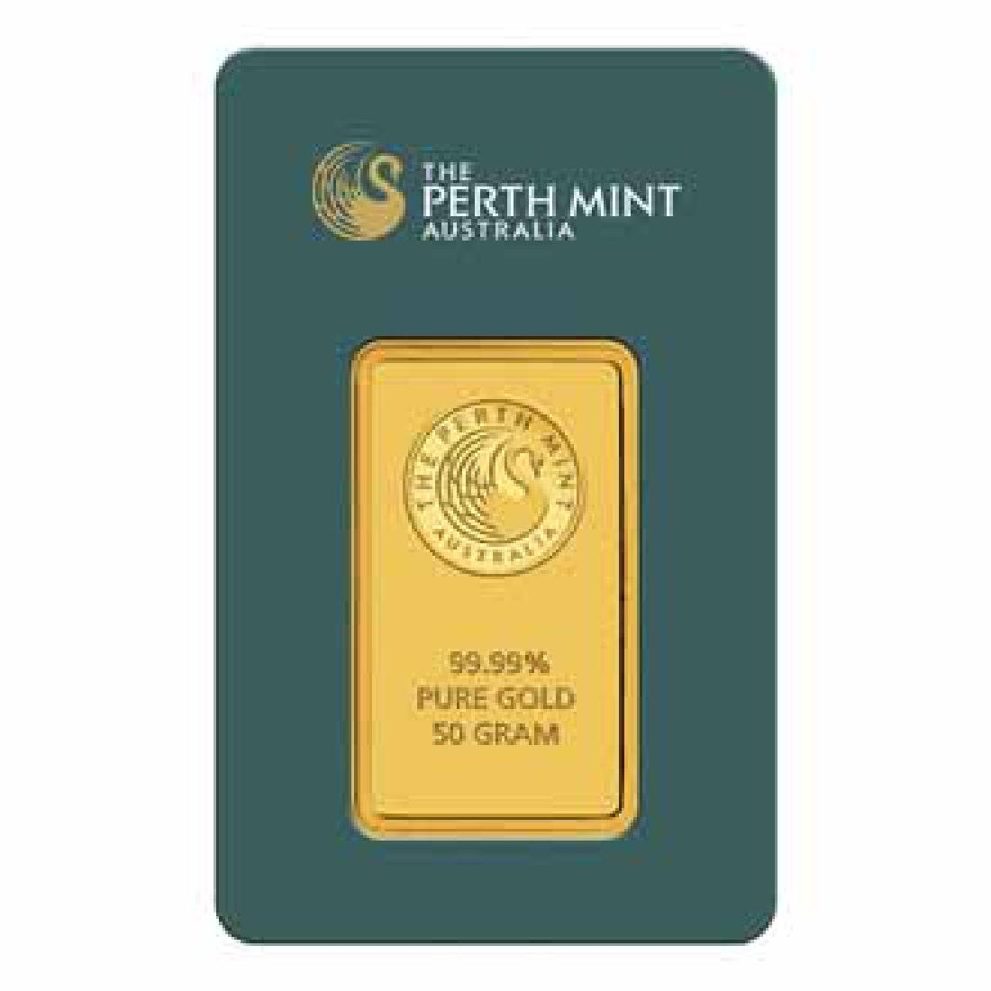 Perth Mint 50 Gram Gold Bar
