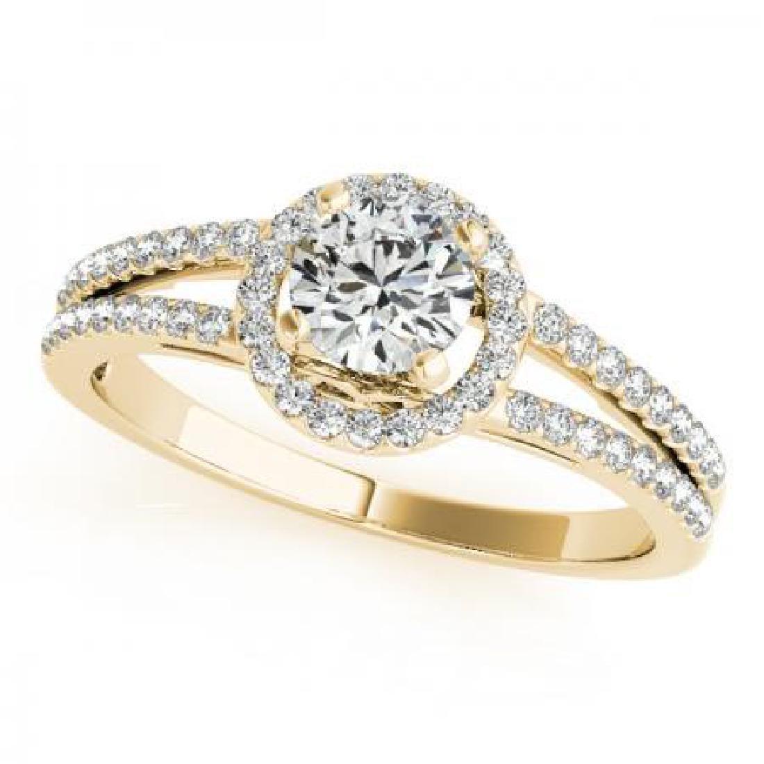 CERTIFIED 18K YELLOW GOLD .95 CT G-H/VS-SI1 DIAMOND HAL