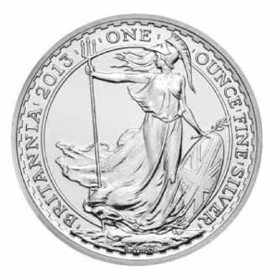 Uncirculated Silver Britannia 1 oz 2013