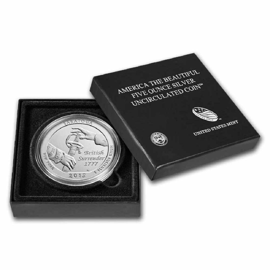 2015-P 5 oz Silver ATB Saratoga (w Box and COA)