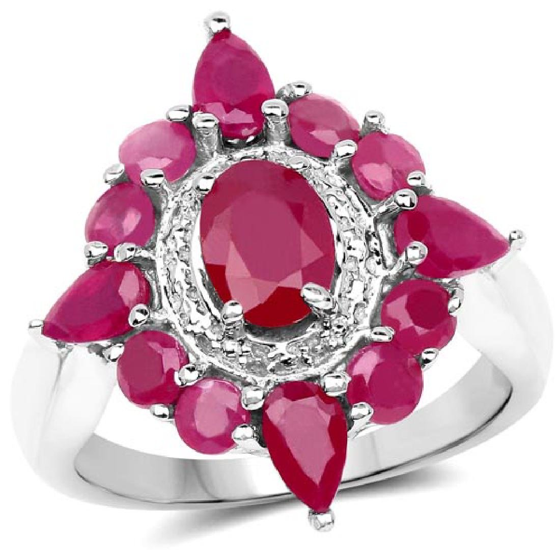 Carat Glass Filled Ruby .925 Sterling Silver Ring