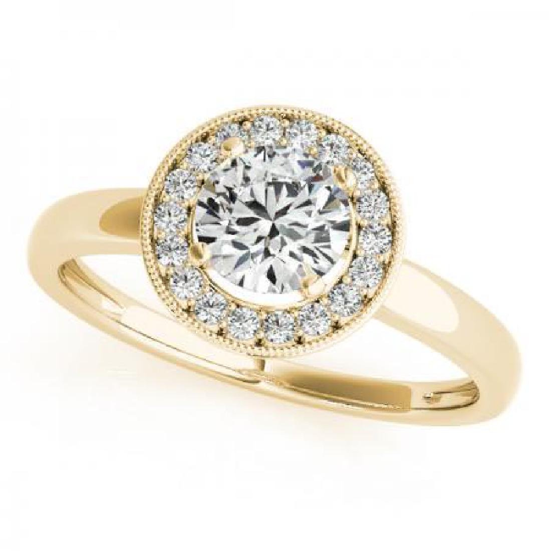CERTIFIED 18K YELLOW GOLD 1.36 CT G-H/VS-SI1 DIAMOND HA