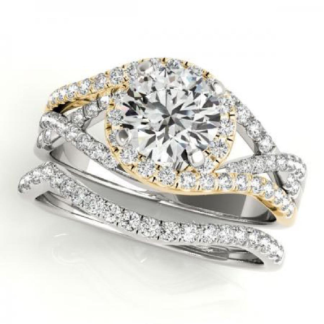 CERTIFIED 18KT TWO TONE GOLD 1.01 CT G-H/VS-SI1 DIAMOND