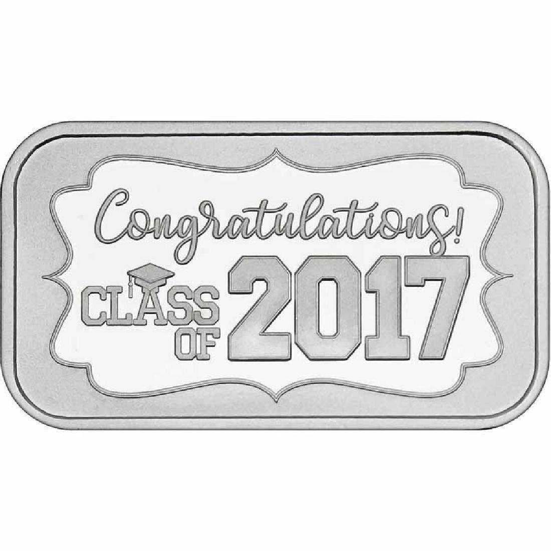 Congratulations Class Of 2017 .999 Silver 1 oz Bar