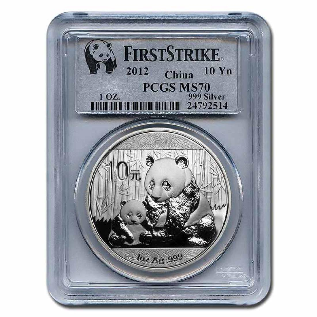 Certified Chinese Panda One Ounce 2012 MS70 PCGS First