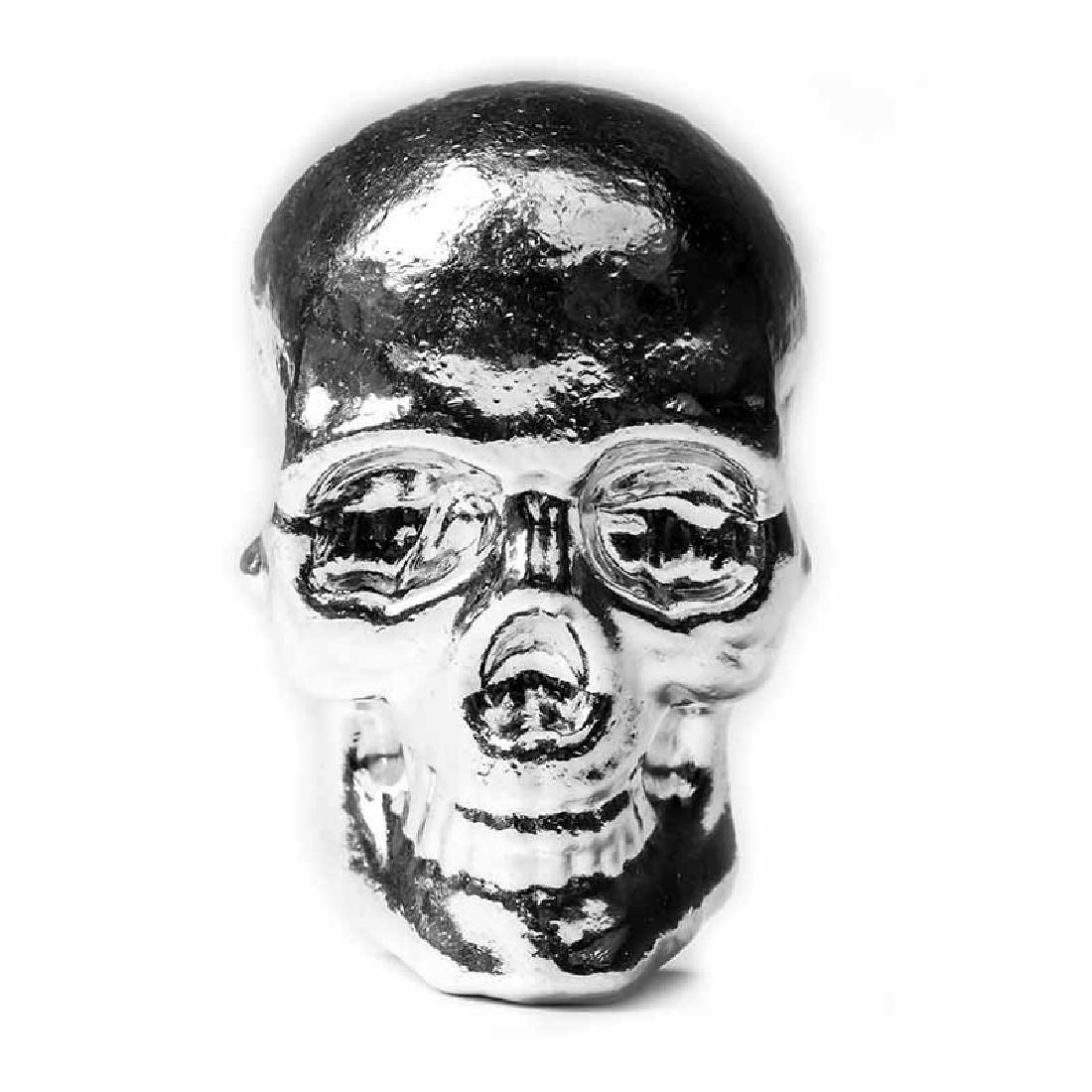 10 oz Atlantis Mint Hand Poured .999 Silver Skull