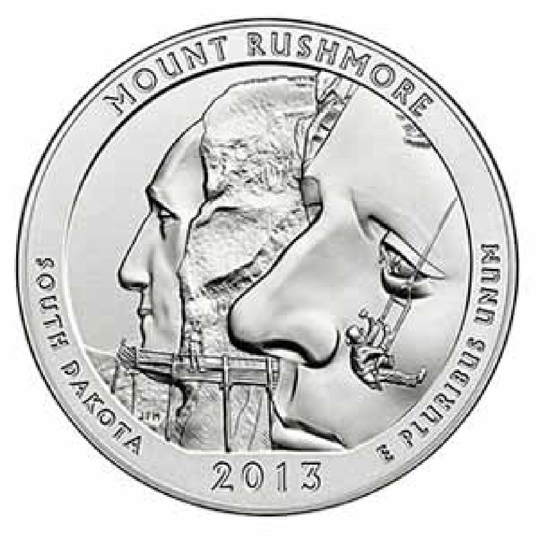 2013 Silver 5oz. Mt Rushmore ATB