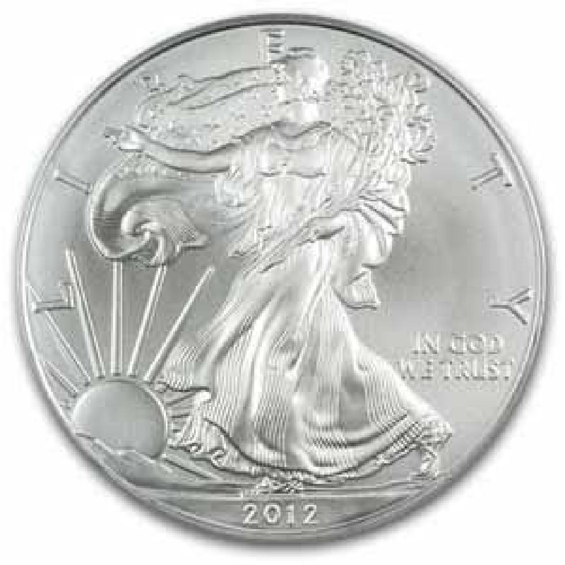 2012 1 oz Silver American Eagle BU