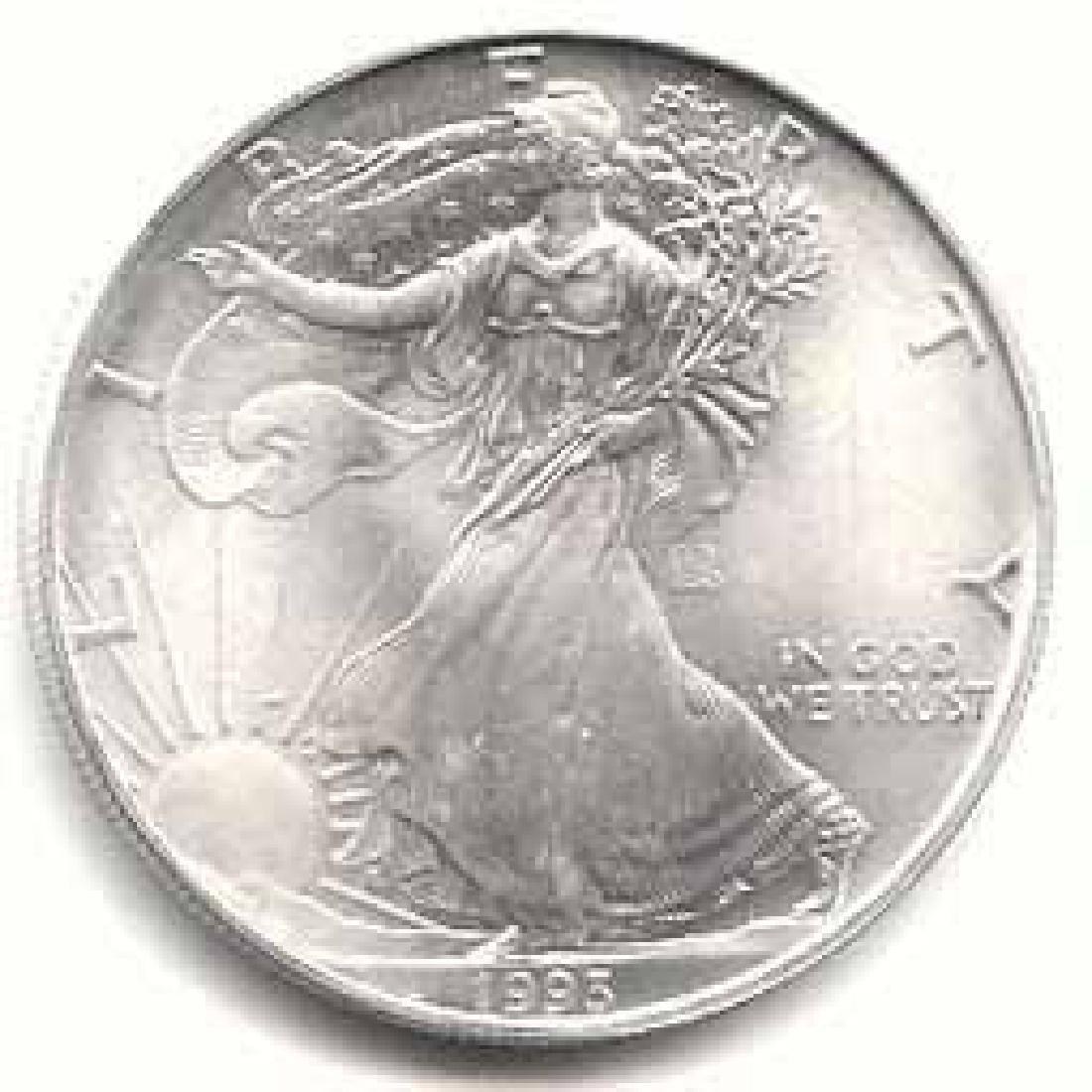 1993 1 oz Silver American Eagle BU