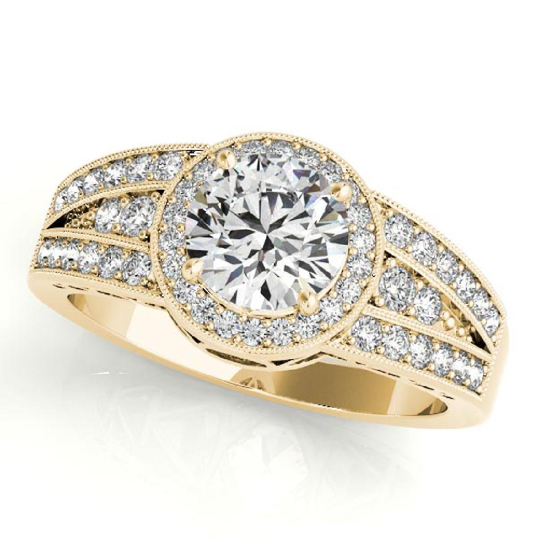 CERTIFIED 18K YELLOW GOLD .92 CT G-H/VS-SI1 DIAMOND HAL