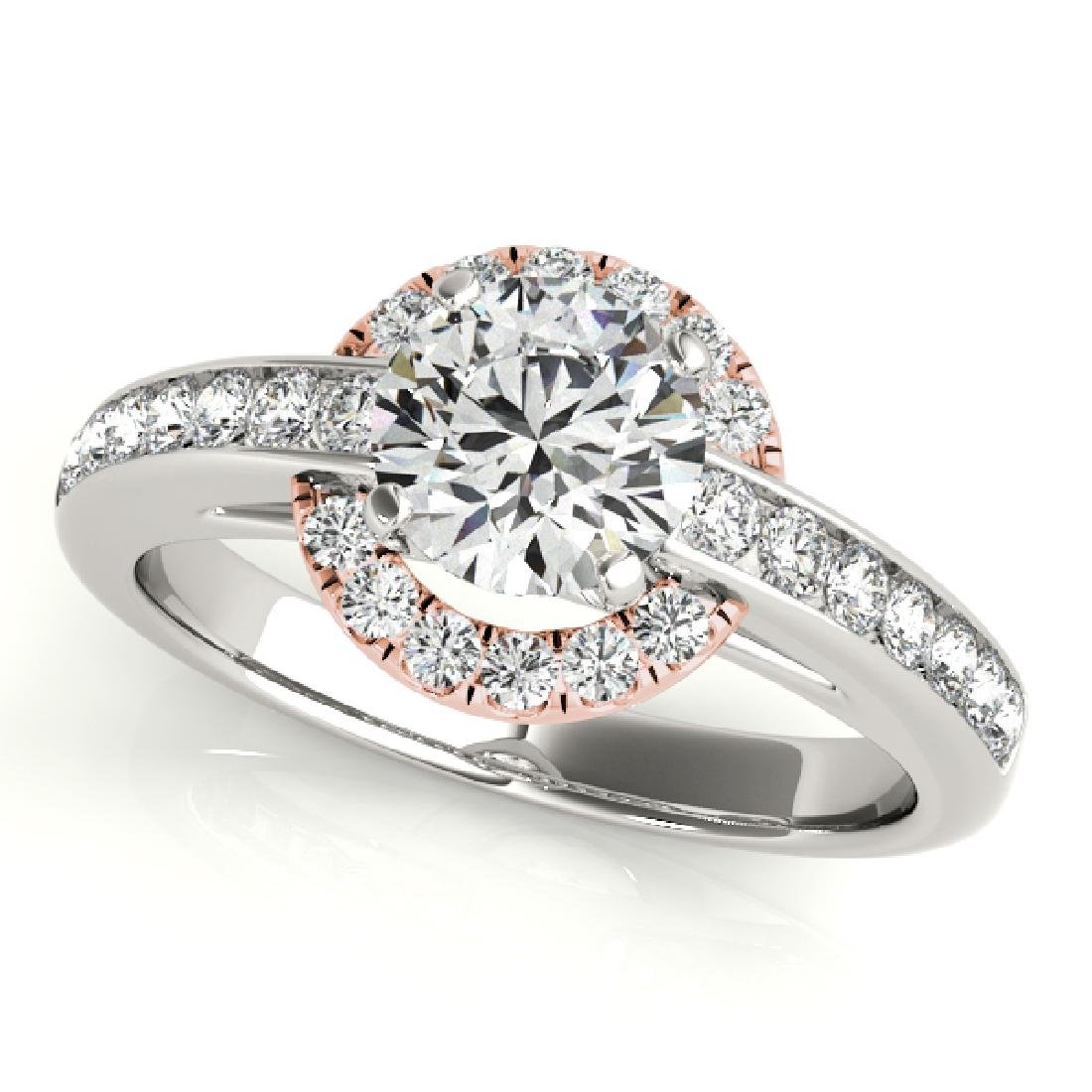 CERTIFIED TWO TONE GOLD 1.33 CT G-H/VS-SI1 DIAMOND HALO