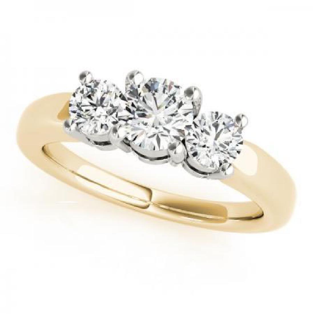 CERTIFIED 18KT TWO TONE GOLD 2.25 CT G-H/VS-SI1 DIAMOND