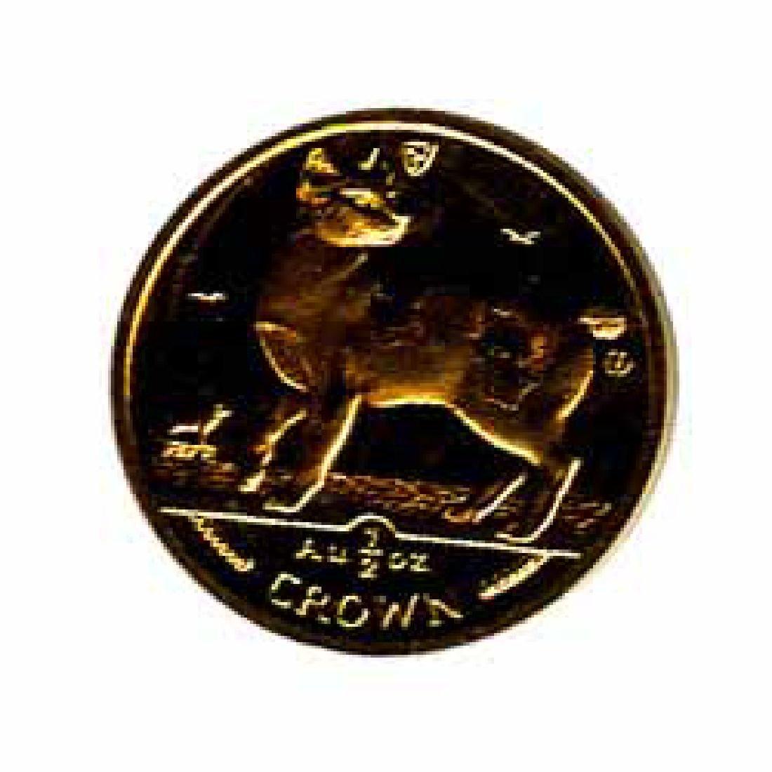 Isle of Man Gold Cat Half Ounce 1994