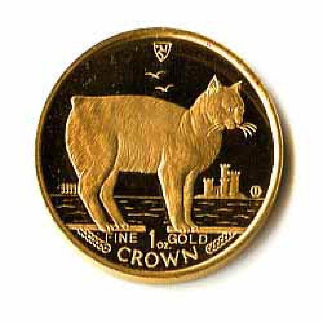 Isle of Man Gold Cat 1 Ounce 1988