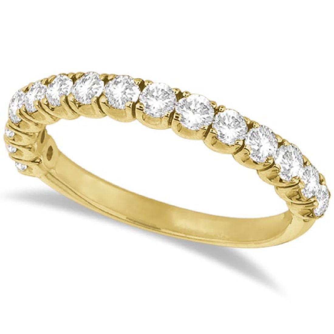 Diamond Wedding Band Anniversary Ring in 14k Yellow Gol