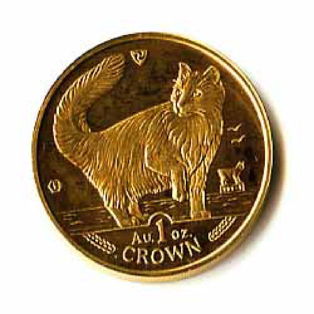 Isle of Man Gold Cat 1 Ounce 1991