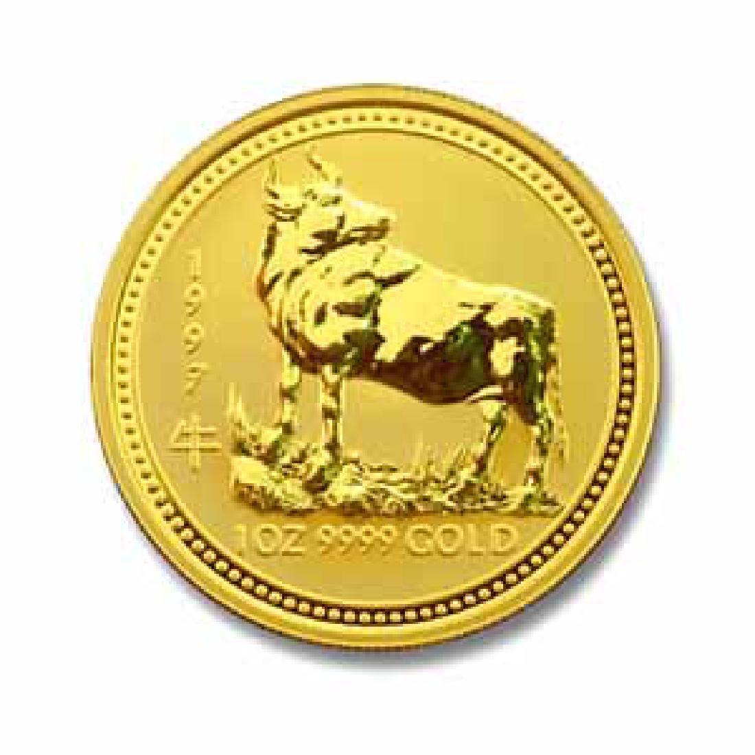 1997 Australia 1 oz Gold Lunar Ox
