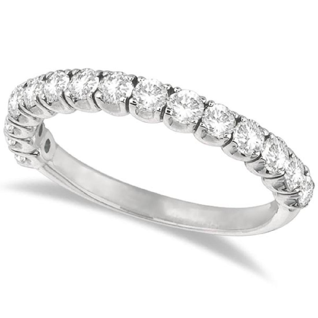 Diamond Wedding Band Anniversary Ring in 14k White Gold