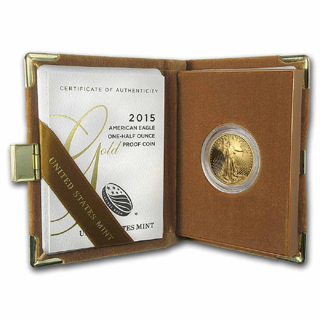Proof American Gold Eagle Half Ounce 2015