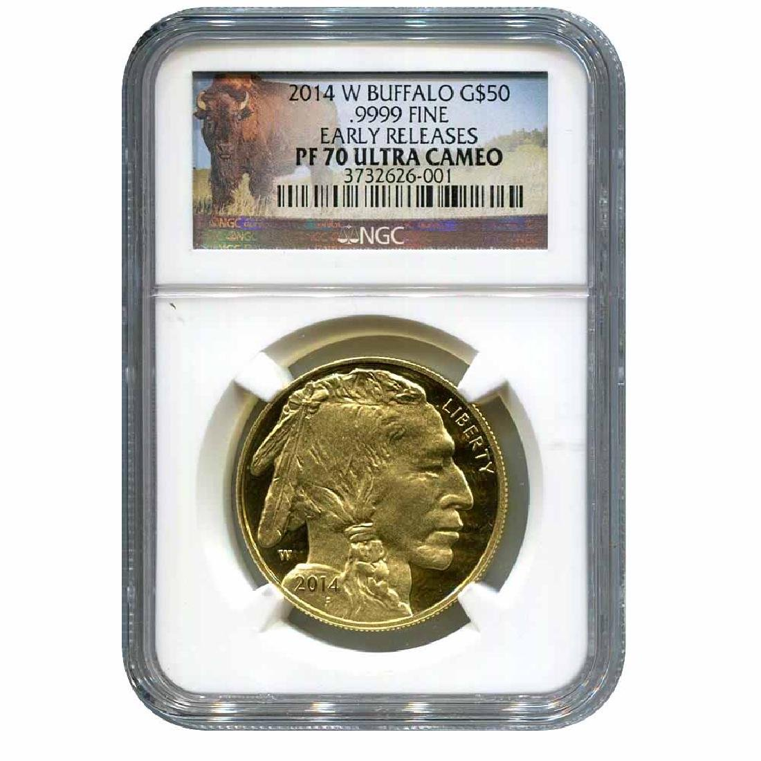 Certified Proof Buffalo Gold Coin 2014-W PF70 Ultra Cam