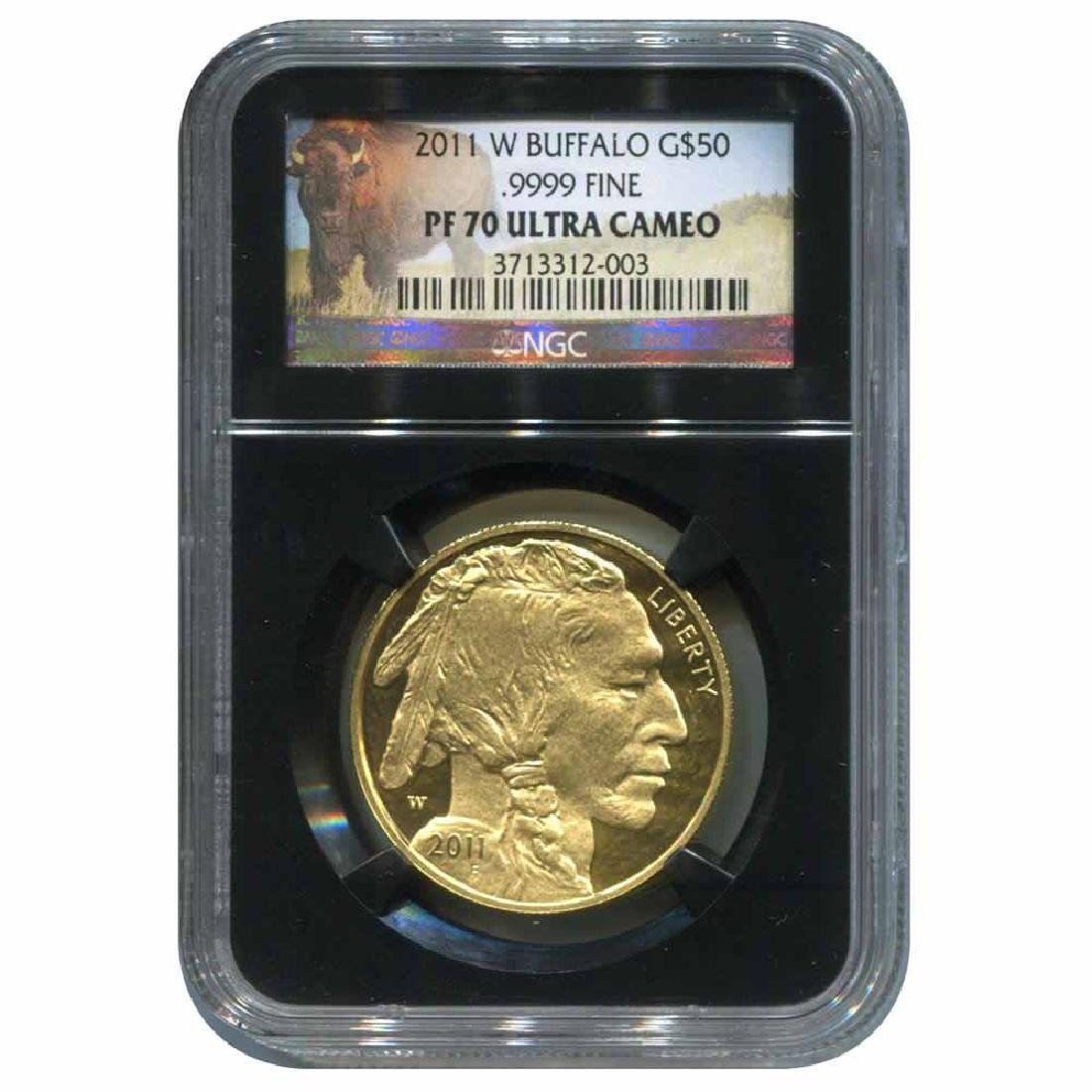 Certified Proof Buffalo Gold Coin 2011-W PF70 Ultra Cam